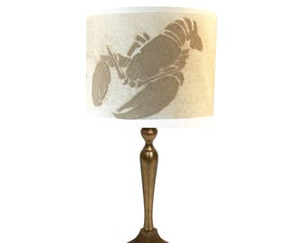 Lamp sylter Lobste with original sand from the Inse