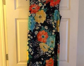 Vintage floral shift dress