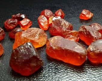 98.45 CT Unheated & Natural Orange Red Garnet Rough Stone Lot