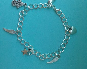 Angel baby charm bracelet