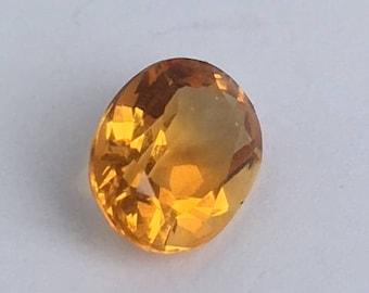 Yellow Zircon Gemstone,  Zircon Gemstone, Oval Zircon Gemstone, 8x6mm Gemstone
