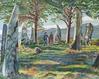 Craig na dunh (Outlander) Photographic print of original art