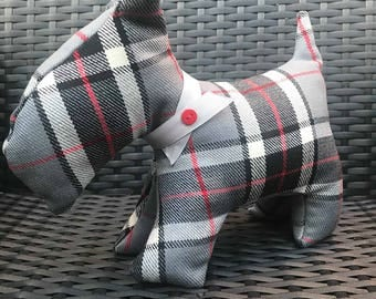 Tartan Scottie Dog Doorstop