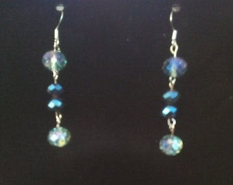 whimsical translucent hook drop earrings