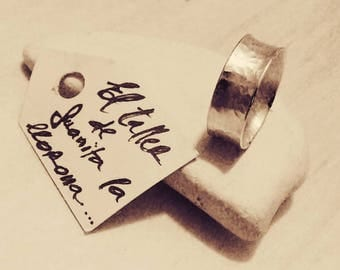 Anticlastico ring made in silver of first law
