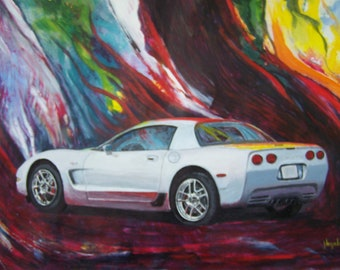 C5 with abstract background