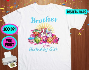 Shopkins. Iron On Transfer. Shopkins Printable DIY Transfer. Shopkins Brother Shirt DIY. Instant Download. Digital Files Only.