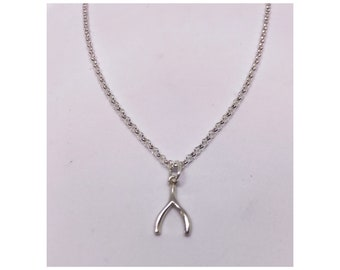 Sterling silver 925 wishbone necklace
