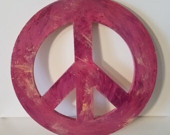 Hand-painted Peace Sign for wall