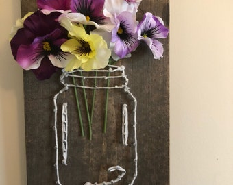 String Art -Mason Jar