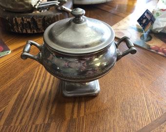 Silver Sugar Bowl Antique - Manning Bowman