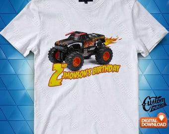 Monster Jam Iron On Transfer, Monster Jam Birthday Shirt DIY, Monster Jam Shirt Designs, Monster Jam Printable, Digital Files