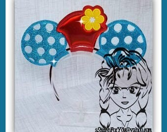 Ms Mouse ReTRO Hat Inspired Character (3 Piece) Mr Ms Mouse Ears Headband ~ In the Hoop ~ Downloadable DiGiTaL Machine Emb Design by Carrie