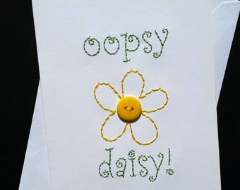 oopsy daisy hand-embroidered card