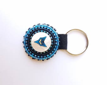 Beaded Batman Key Chain
