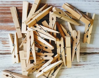 15 Wooden Clothespins- 2 inches in length, decoration, photo display