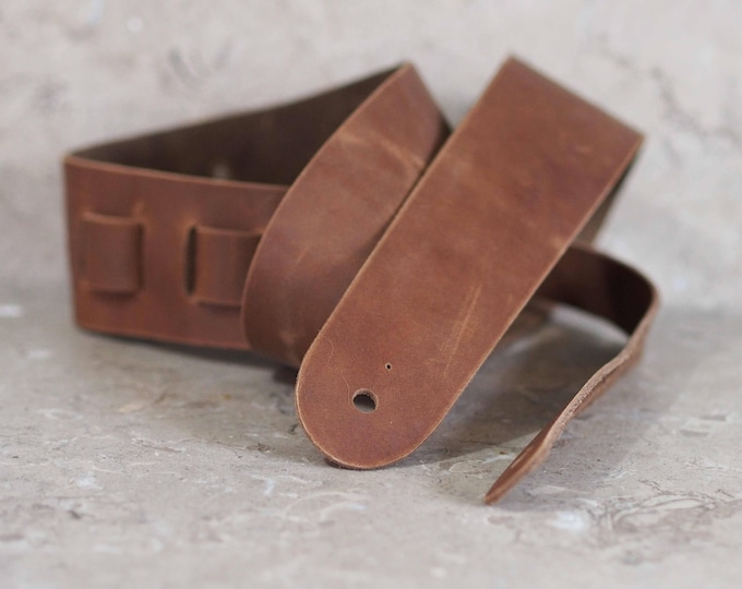 Chocolate Brown Leather Guitar Strap
