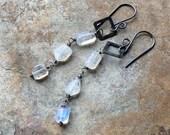 Moonstone Earrings, Moonstone Jewelry, white gemstone, sterling silver, artisan jewelry, wedding jewelry, bridal jewelry, bridal earrings