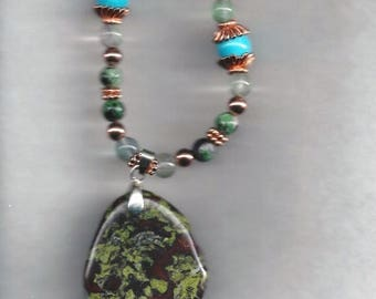 ON SALE Forest Stone Necklace