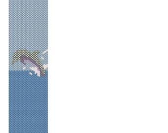 Peyote Dolphin Bracelet