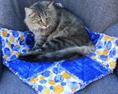 SAVED FOR SMOKEY, Cat Bed, Cat Quilt, Handmade Pet Bedding, Washable Pet Bedding, Cat Blanket, Travel Cat Blanket, Couch Cover