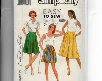 Simplicity Misses' Culottes In Three Lengths Pattern 9110