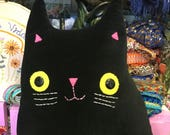 Cat shaped cushion - Mr Ramsey Whiskers