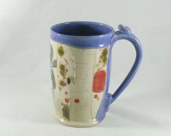 Big Ceramic Mug, Pottery Mug, Teacup, pottery and ceramics, Beer Stein, Tankard, Clay Cup,  Unique Coffee Mugs, Large Size Mug 826