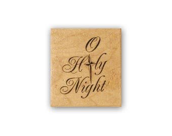 O Holy Night mounted rubber stamp, religious, Christian, Christmas, Crazy Mountain Stamps  #7
