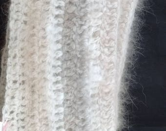 Angora Scarf in Natural color