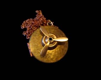 Wearable Fidget Spinner Necklace