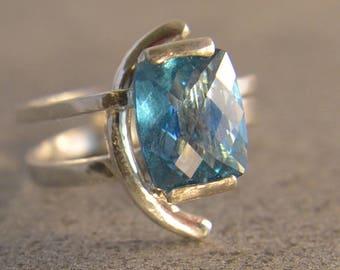 Arctic - Teal Topaz gemstone ring