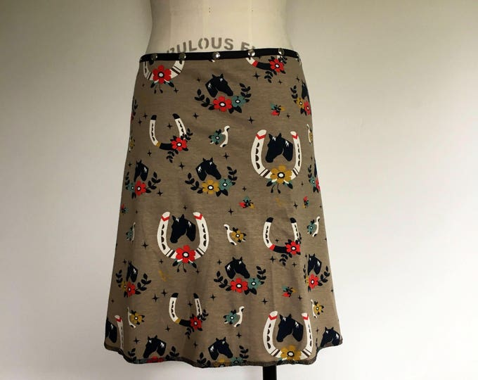 Organic Horse Snap Around Skirt by Erin MacLeod
