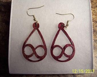Wooden Earrings ----Scrollsaw