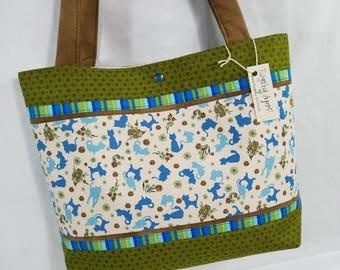 Kitty Cat Calico Cats fabric handbag purse tote shoulder bag