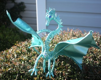 Turquoise Leather Dragon