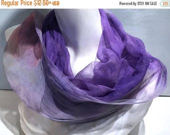 "KIT SALE Purple pink Silk gauze silk fabric, Hand Dyed silk scarf, 12 x 120"" lavender purple pink green, learn nuno wet felt kit, tutorial,"
