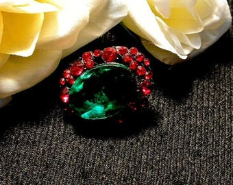 Eclipse Sale Red Green Thumbtack Pushpin, Jeweled Thumb Tack Push Pin, Cork Board Accessory