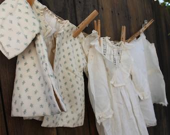 Vintage/antique girl's dress, slip & jacket. Fine cotton