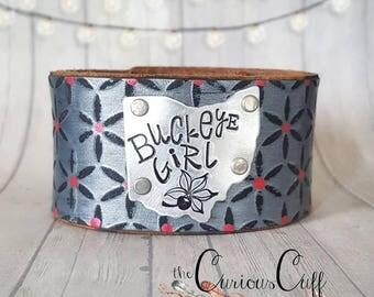 Buckeye Girl (Gray Leather)