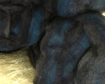 April Showers - appx. 8 ounces - Wool and Mohair Roving