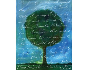 Family Tree Calligraphy Print