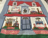 Fabric Panel Cranston Screen Print Victorian Doll House