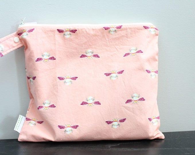 Wet Bag wetbag Diaper Bag ICKY Bag wet proof coral bee gym bag swim cloth diaper accessories zipper gift newborn baby kids beach bag