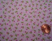 QUARTER yard VINTAGE tiny print pink floral fabric DOLL dress making