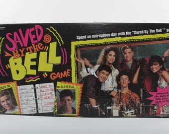 Saved By The Bell, Vintage, Board game, Pressman, Box, Cards, Pictures, Notes, Retro, Fun, 90s TV Show, Teenagers ~ The Pink Room ~ 160916