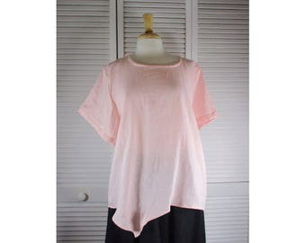 Angle Point Misses Hanky Linen S/S Top Made to Order in 12 Colors S M L Xl by Blue Fish Red Moon Wearable Art Clothing