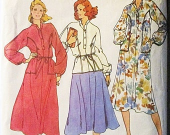 30% OFF SALE 1970s Vintage Sewing Pattern Butterick 6290 Misses Dress, Top & Skirt Pattern Size 10 Bust 32 1/2
