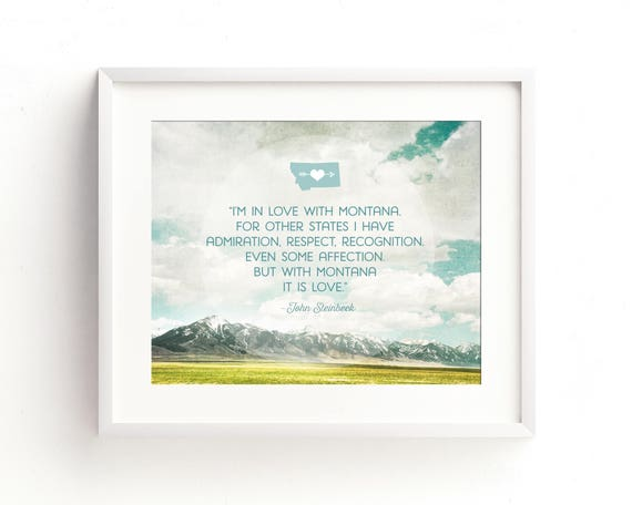 """""""In Love with Montana"""" - quote wall art"""