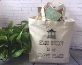 Gilmore Girls Einkaufstasche/Stars Hollow ist meine Happy Place / Gimore Mädchen Geschenk / Gilmore Girls Lüfter